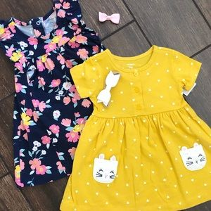 NEW Baby Girls set of two Carter's dresses for 9mo